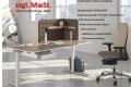 Aktion Steh-Sitz Arbeitsplatz mit Stuhl